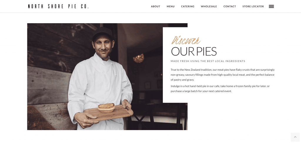 North Shore Pie Co website screenshot